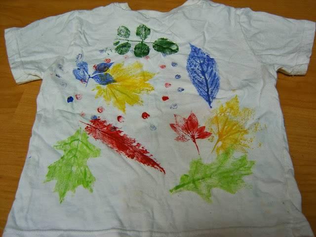 풀물염색 - 나뭇잎 손수건