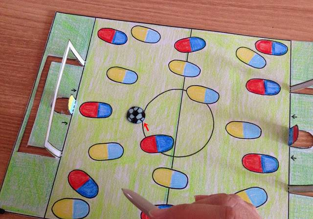 종이 축구 게임