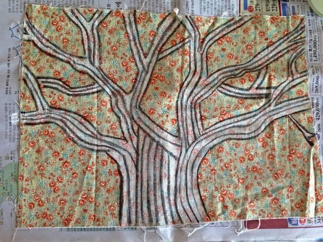 헝겊그림 그리기 : 나무를 그리는 사람