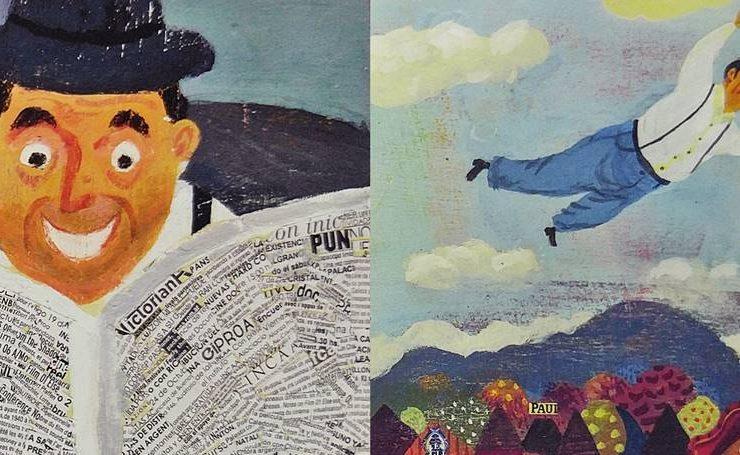 바람에 날린 작은 신문